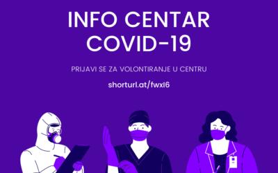 Info centar COVID-19 NZZJZ & UNIRI i dalje radi – prijava volontera