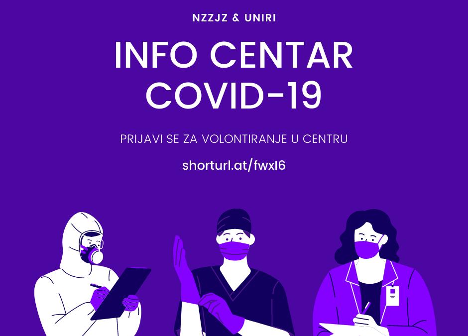 Info centar COVID-19 NZZJZ & UNIRI – prijava volontera