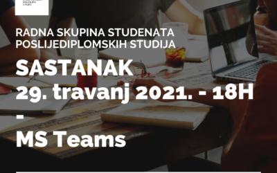 Radna skupina studenata poslijediplomskih studija – UNIRI