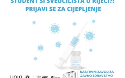 Student si Sveučilišta u Rijeci – prijavi se za cijepljenje // Are you a University of Rijeka student? Register for vaccination!
