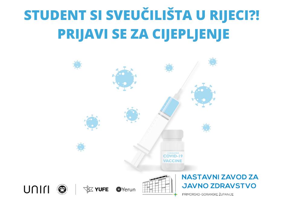Student si Sveučilišta u Rijeci – prijavi se za cijepljenje