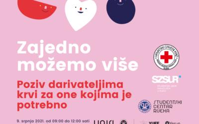 Želite li darivati krv – imate priliku 9. srpnja 2021. – Kampus UNIRI